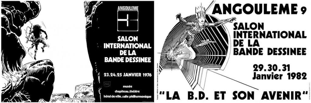 Affiches du 3e et 9e Festival d'Angoulême
