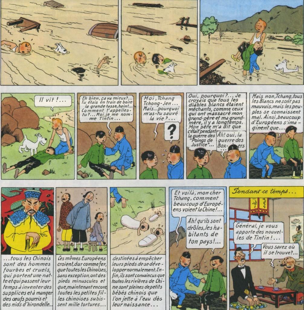 La rencontre entre Tintin et Tchang.